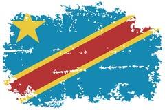 Congo grunge flag. Vector illustration. Stock Photo