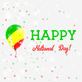 Congo National Day patriotic poster. Royalty Free Stock Photography