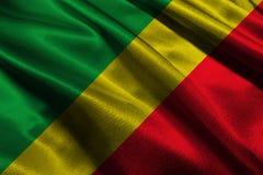 Congo national flag 3D illustration symbol Stock Photo
