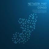 Congo network map. Royalty Free Stock Images