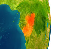 Congo on planet Royalty Free Stock Images