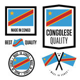 Congo quality label set for goods Stock Photography