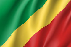 Congo realistic flag Royalty Free Stock Images