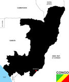 Congo republic map Stock Photos