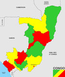 Congo republic map Stock Image
