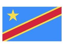 congo republika demokratyczna chorągwiana royalty ilustracja