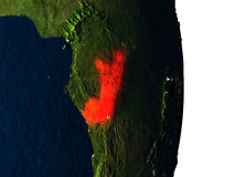 Congo from space during dusk Royalty Free Stock Images