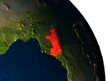 Congo from space Royalty Free Stock Photo