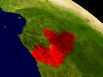 Congo from space Stock Images