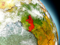 Congo from space Stock Image