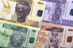 Congolese Franc a background royalty free stock image