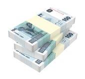Congolese francs isolated on white background. Stock Photo