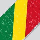 Congolese grunge flag. Vector illustration. Royalty Free Stock Photo