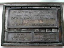 Congrégation hébreue de synagogue de St Thomas Photographie stock