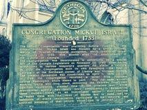Congrégation Mickve Israël dans la savane, Georgia Founded 1733 Images stock