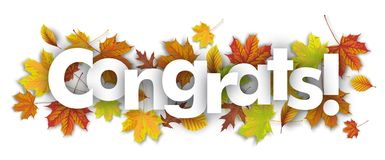Congrats Autumn Foliage Royalty Free Stock Image