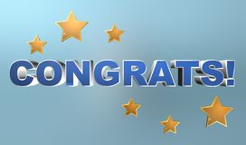 Congrats background with stars Royalty Free Stock Photos