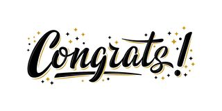 Free `Congrats!` Bulk Lettering Greeting Sign. Stock Photography - 177349322