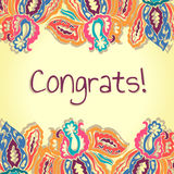 Congrats card. Abstract colorful vector Royalty Free Stock Photo