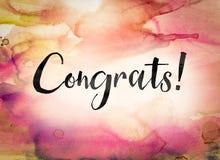 Congrats Concept Watercolor Theme Royalty Free Stock Photography