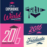 2016 Congrats or Congratulations Graduate Typography Intended fo Royalty Free Stock Photography