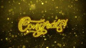 Congrats desea la tarjeta de felicitaciones, invitación, fuego artificial de la celebración libre illustration