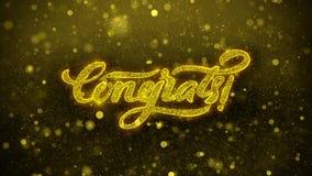Congrats deseja o cartão de cumprimentos, convite, fogo de artifício da celebração