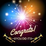 Congrats Fireworks Stock Photo