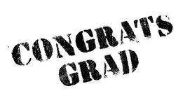 Congrats Grad rubber stamp Royalty Free Stock Photography