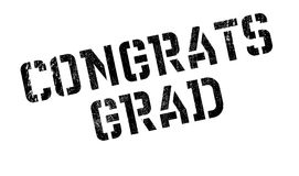 Congrats Grad rubber stamp. Grunge design with dust scratches. Effects can be easily removed for a clean, crisp look. Color is easily changed Stock Images
