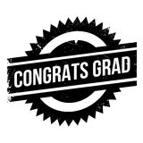Congrats Grad rubber stamp Royalty Free Stock Image