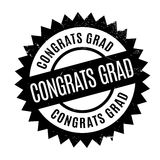 Congrats Grad rubber stamp. Grunge design with dust scratches. Effects can be easily removed for a clean, crisp look. Color is easily changed Stock Image