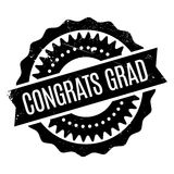 Congrats Grad rubber stamp Royalty Free Stock Images