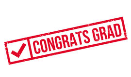 Congrats Grad rubber stamp Royalty Free Stock Photos