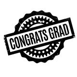 Congrats Grad rubber stamp Royalty Free Stock Photo