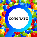 Congrats. illustration in vector format Royalty Free Stock Photography