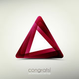 Congrats logo. Abstract logo template icon.  graphic design. triangle symbol Royalty Free Stock Photos