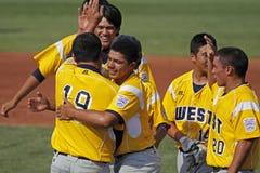 Congrats maggiori di serie di mondo di baseball della lega Fotografie Stock