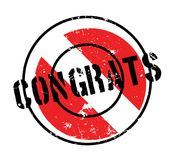 Congrats rubber stamp Royalty Free Stock Photos