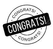 Congrats rubber stamp Royalty Free Stock Photography