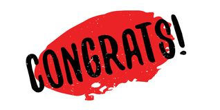 Congrats rubber stamp Royalty Free Stock Image