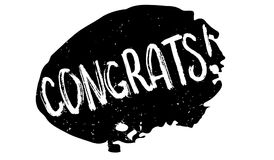 Congrats rubber stamp Stock Image
