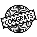 Congrats rubber stamp Royalty Free Stock Images
