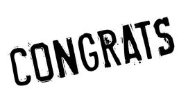 Congrats rubber stamp Stock Photo