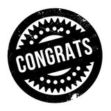 Congrats rubber stamp Stock Photography