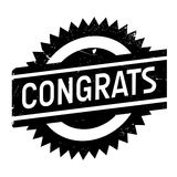 Congrats rubber stamp Royalty Free Stock Photo