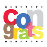 Congrats Text Color Vector Design Stock Images