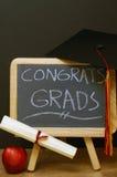 Congrats a todos os graduados Foto de Stock Royalty Free