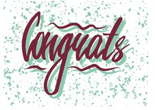 Congrats word with confetti Stock Images