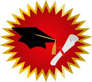 Congratualtions on your Graduation. Seal of approval on your Graduation Stock Image